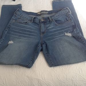 Ripped jeans high waisted size 12 regular